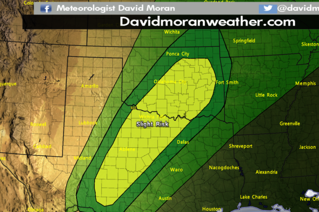 SPC Convective Outlook for Monday